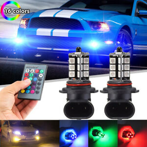 For Ford Mustang 2006 2012 Wireless Ir Remote Multi color Rgb Led Fog Lights 2x