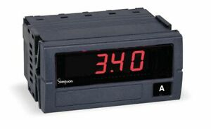 Simpson Electric Digital Panel Meter Dc Current Includes Instructions