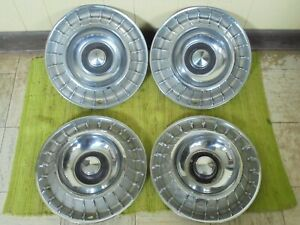 1963 Ford Thunderbird Hub Caps 14 Set Of 4 Wheel Covers Hubcaps 63 T bird