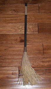 Old Tyme Antique Vtg Style Retro Halloween Witches Hearth Whisk Wisk Broom
