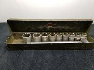 Vintage Sears Fulton Socket Set Pre Craftsman Made In Usa 1930s