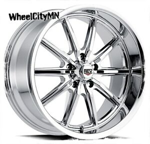 17 X7 Inch Chrome Rev 110 Classic Wheels Fits Ford Falcon Mustang Gtx 5x4 5 0