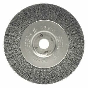 4 Crimped Wire Wheel Brush Arbor Hole Mounting 0 012 Wire Dia 7 8 Bristle