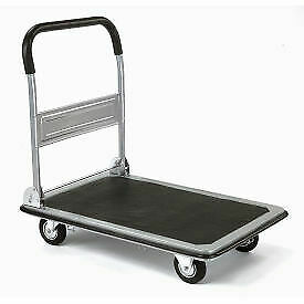 Folding Platform Truck With 28 X 18 Solid Steel Deck 400 Lb Capacity 1 Each