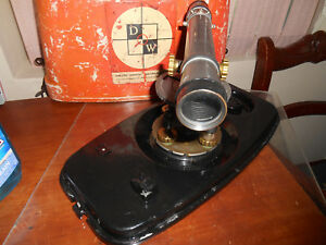 Vintage David White Survey Level Surveyors Transit With Case
