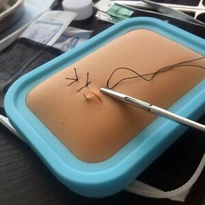 Surgical Suture Instrument Kit Medical Student Tool Kit Silicone Skin Practice