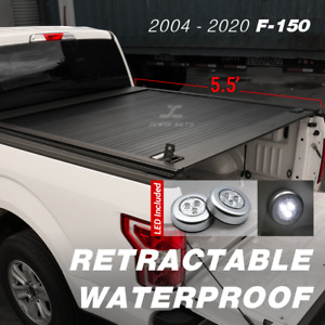 For 2004 19 Ford F 150 5 5ft Aluminum Retractable Roll Up Hard Tonneau Cover Bed