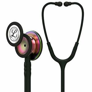 Littmann Classic Iii Monitoring Stethoscope Rainbow finish Chestpiece Black Tu