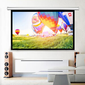 84 16 9 Projector Screen Manual Pull Down School Business Home Projection