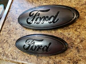 2019 20 Ford Ranger Front Rear Magnetic Black Emblems 9 7
