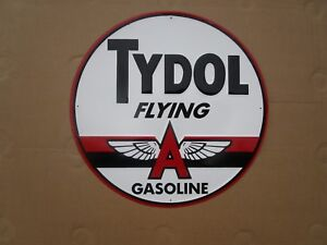 Tin Metal Gasoline Service Station Man Cave Advertising Decor Gas Oil Tydol