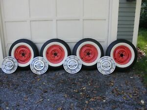 1958 Corvette Wheels And Wheel Covers Set Of Four Each