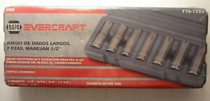 Brand New Factory Sealed Napa Evercraft 1 2 In Dr 7 Pc Deep Socket Set 414