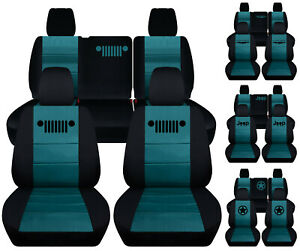 Fits Jeep Wrangler Jl 4 Dr 2018 2019 Front Rear Seat Covers Blk Teal