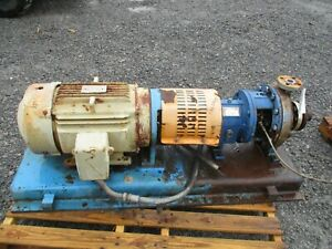 Griswold Stainless Pump With Motor And Base 59930m Used