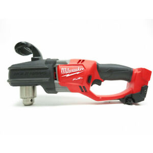 Milwaukee 2707 20 M18 18v Fuel Hole Hawg 1 2 Right Angle Drill bare Tool Only