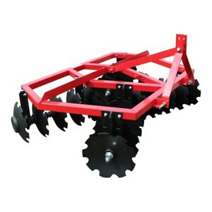 Category 1 3 Point Notched Disc Harrow Plow For Kubota New Holland Tractors 6