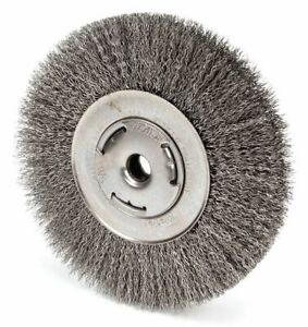 7 Crimped Wire Wheel Brush Arbor Hole Mounting 0 014 Wire Dia 1 5 8