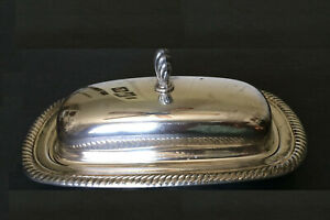 International Silver Co Butter Dish With Glass Insert