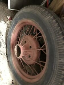 Model A Ford 1930 1931 19 Wire Wheel Rim Firestone Tire Stock Original