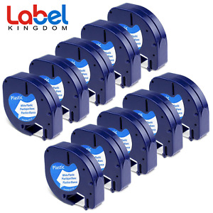 10 Pk Lt 91331 Dymo Letratag Refill Compatible For Dymo Label Maker Tape 12mmx4m