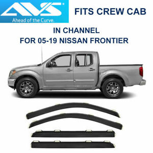 Avs Rain Guards In Channel Vent Visor For Nissan Frontier Crew Cab 194407