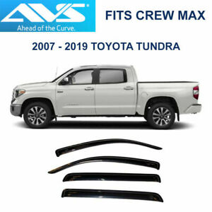 Avs Rain Guards Tape on Window Vent Visor For 07 19 Toyota Tundra Crew Max 94309