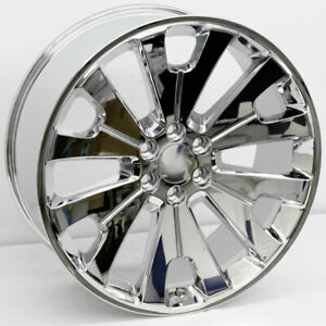 24 Chrome Ltz Concave Style Wheels 24x10 6x139 7 31mm Gmc Sierra Denali Chevy
