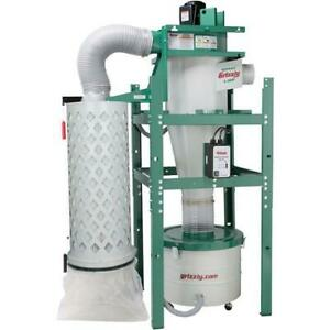 Grizzly G0443 1 1 2 Hp Cyclone Dust Collector