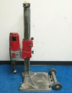 Milwaukee Core Drill Model 4096 With Milwaukee 4120 Diamond Coring Large Base