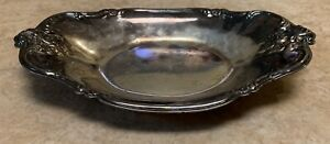 International Silver Company Silver Plated Vintage Tray 448 Candy Dish Nuts