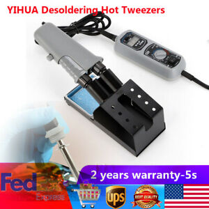 Yihua Desoldering Hot Tweezers Mini Soldering Station Sit 110v 120w 938d Usa