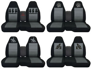 Fit Ford Ranger truck Car Seat Covers 60 40 console Not Included Blk charcoal