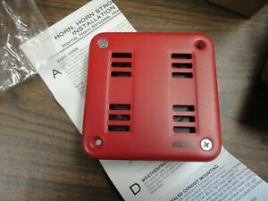 lot Of Five Esl Fire Alarm Horns 107 44 Red Metal 4 1 2 By 4 1 2 N o s