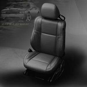 2015 2019 Dodge Challenger Sxt Rt Sport Black Katzkin Leather Seat Covers Kit