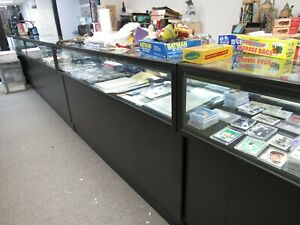 5 Used Retail Durable Lighted Jewelry Display Locking Showcases 70 Long Each