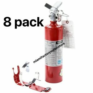 8x 2 5 Lb Fire Extinguisher Abc Dry Chemical Rechargeable Dot Vehicle Bracket Ul