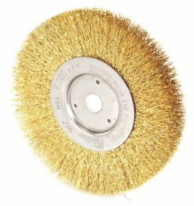 6 Crimped Wire Wheel Brush Arbor Hole Mounting 0 012 Wire Dia 1 7 16