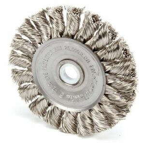 3 Twisted Wire Wheel Brush Arbor Hole Mounting 0 014 Wire Dia 5 8 Bristle