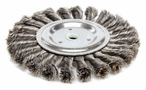 6 Twisted Wire Wheel Brush Arbor Hole Mounting 0 014 Wire Dia 1 1 4