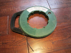 240 Ft Big Roll Greenlee 438 20 Steel Fish Tape 240 X 1 8 X 0 0060