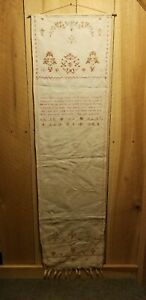 Show Towel Antique Sampler Made In 1847 By Barbary Kreider Lampeter Pa