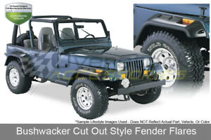 1987 1995 Jeep Wrangler Fender Flares Cut out Style Oe Matte Black Bushwacker