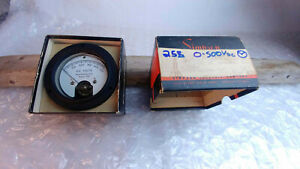 Simpson Model 25r 0 500vdc New Old Stock Nib Analog Panel Meter Round