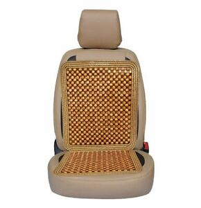 Zone Tech Ultra Comfort Car Natural Wooden Beaded Seat Cushion Beads Massage