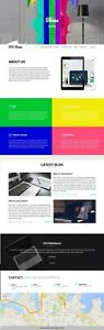 5 Page Creative And Stunning Website Design silver Package