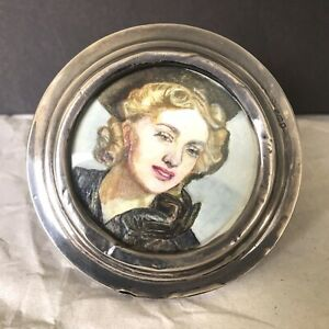 Antique 1917 Sterling Silver 925 Photo Frame From London With A Wood Back