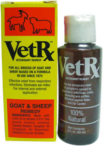 Vet Rx Goat Sheep Relief Prevention Respiratory Infections Ear Mites 2oz