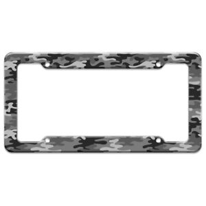 Snow Camouflage License Plate Tag Frame
