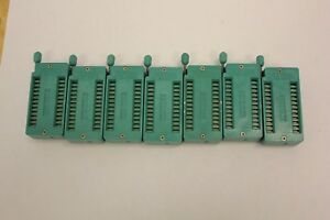 Lot Of 7 Textool 224 3344 3m 24 Pin Zif Sockets New